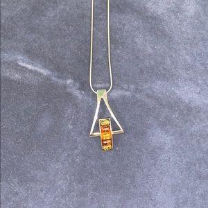Silver Gemstone Necklace